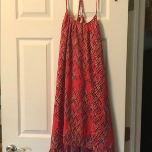 High-Low Coral Sundress